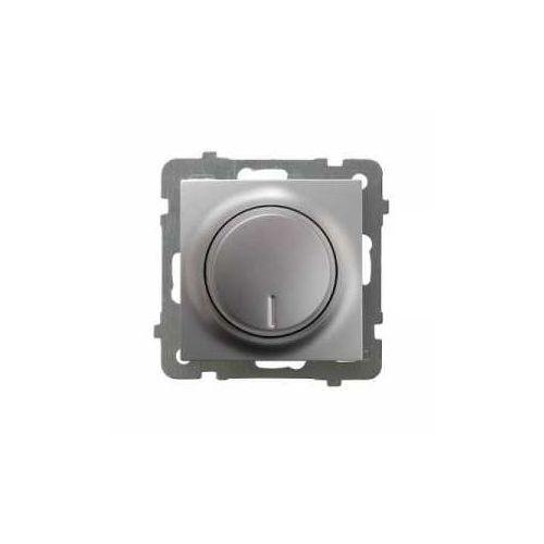 OKAZJA - Ściemniacz uniwersalny Ospel AS ŁP-8GL2/m/18 do LED, obciążenia żarowego i halogenowego srebro, ŁP-8GL2/m/18