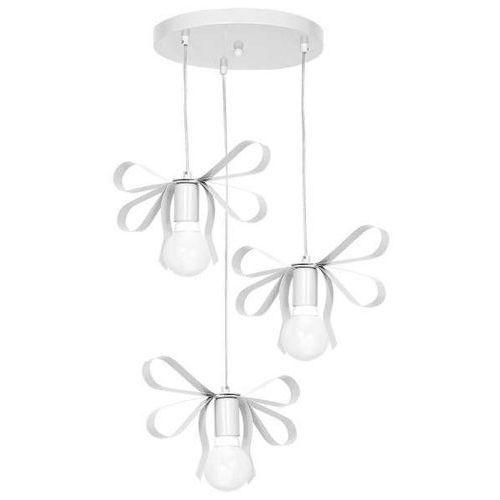 Decoland Lampa wisząca emma mlp1037 milagro dekoracyjna oprawa do pokoju dziecięcego zwis kokardki białe (5902693746478)