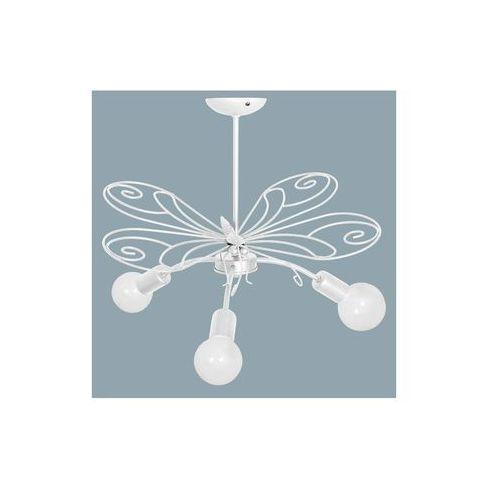 Luminex Lampa wisząca dziecięca motyl 3xe27/60w biała (5907565953336)