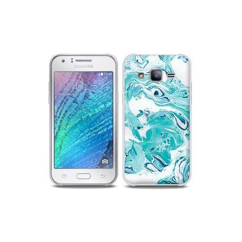 Etuo full body slim fantastic Samsung galaxy j5 - etui na telefon full body slim fantastic - niebieski marmur