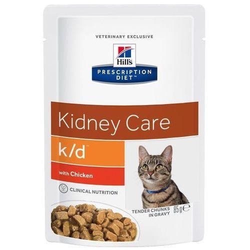 feline k/d kidney care, kurczak w sosie - kurczak, 12 x 85 g marki Hills prescription diet