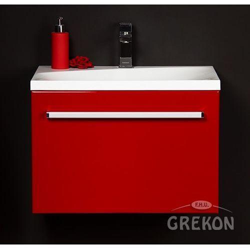 Czerwona szafka wisząca z umywalką 60/39m seria fokus cz marki Gante