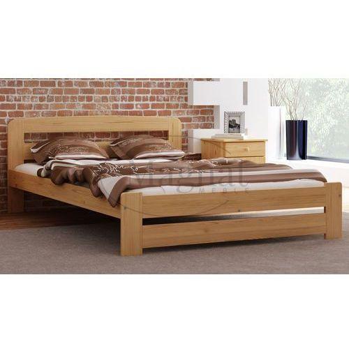 Łóżko drewniane Lidia 160x200 z materacem piankowym