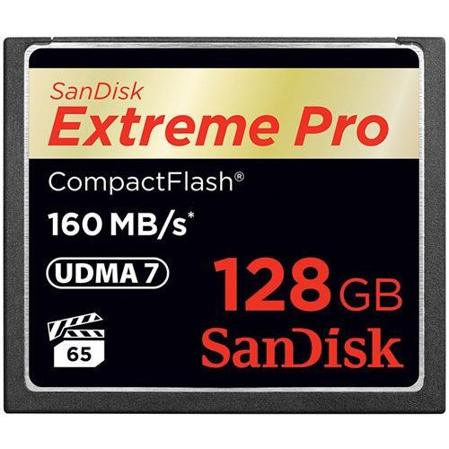 Sandisk Karta pamięci  compact flash extreme 128gb (cf) 160mb/s 1067x, kategoria: karty pamięci