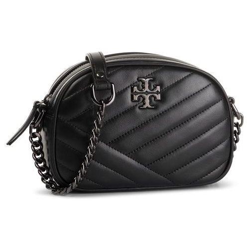 Torebka TORY BURCH - Kira Chevron Camera Bag 60227 Black/Gunmetal 013, kolor czarny