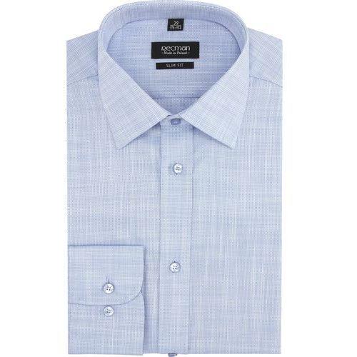 koszula versone 2765 długi rękaw slim fit niebieski