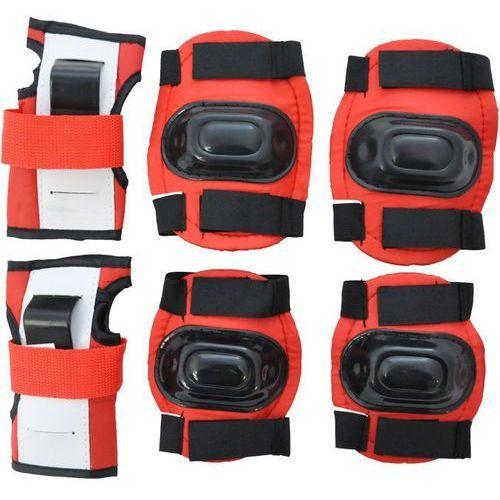 Axer sport Komplet ochraniaczy a1591 czerwony (rozmiar s)