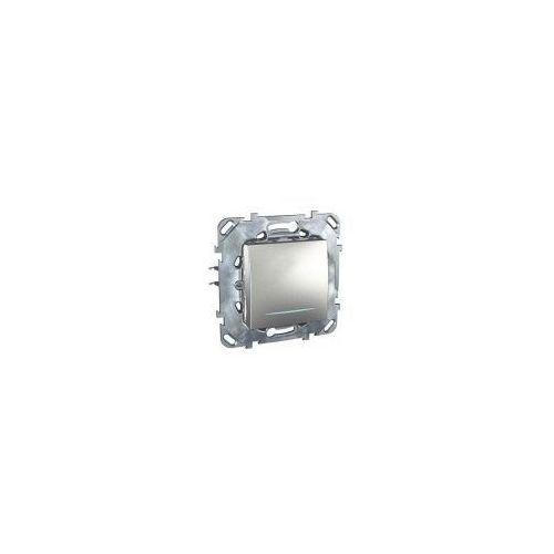 Schneider / merten Łącznik schodowy z podświetleniem 10ax aluminium unica top schneider -