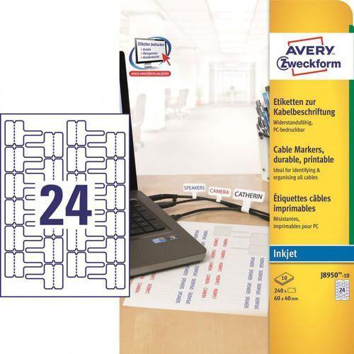 Etykiety do oznaczania kabli Avery Zweckform J8950, 60x40mm