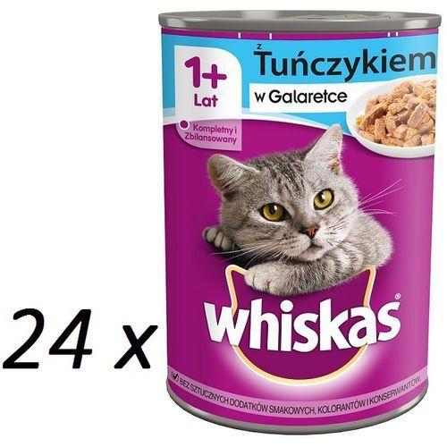 Whiskas tuńczyk w galaretce 400 g x 18 + 6 gratis - darmowa dostawa od 95 zł!