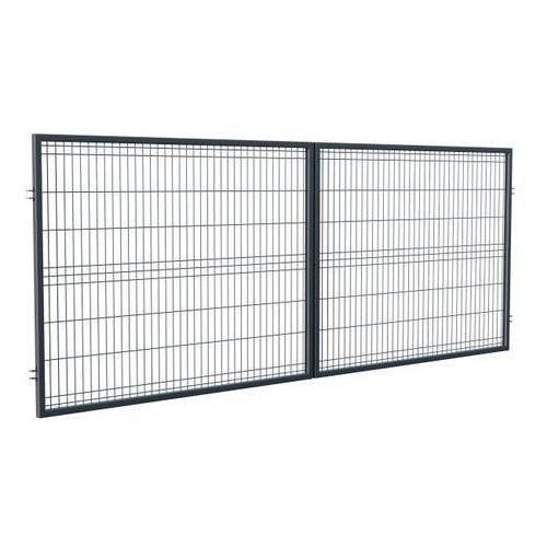 Brama panelowa 150 x 400 cm oczko 5 x 20 cm ocynk antracyt