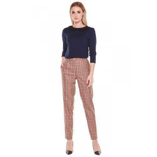 Kraciaste spodnie w jesiennych kolorach - Bialcon
