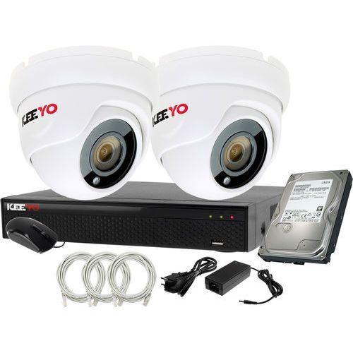 Plug&Play Zestaw do monitoringu IP Rejestrator LV-NVR4415S-4P + 2x Kamera LV-IP2M2DFE + 1TB, ZM11919