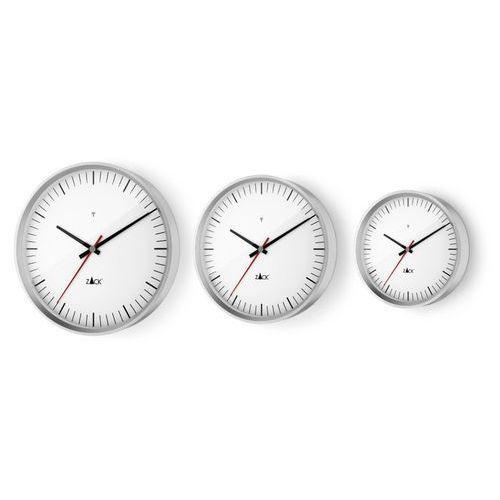 Zack - Zegar ścienny sterowany radiowo 24 cm - biały - stal nierdzewna matowa - 24,00 cm