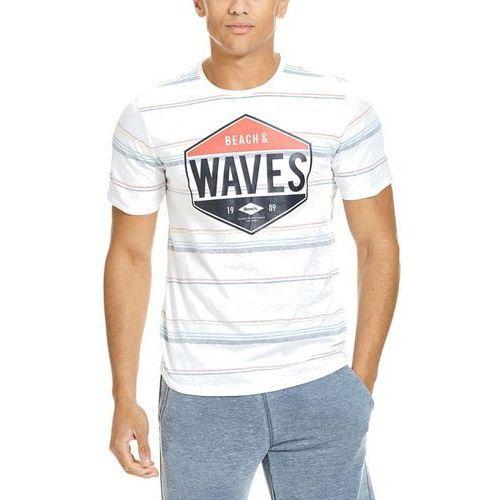 koszulka BENCH - Printed Stripe Bright White (WH11185) rozmiar: XL, 1 rozmiar