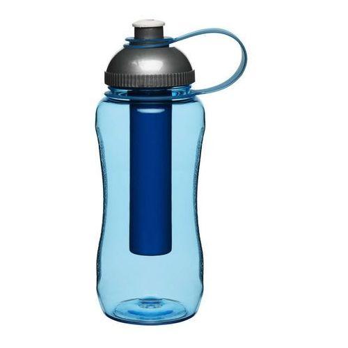 Sagaform - to go - butelka z wkładem chłodzącym, niebieska - niebieski
