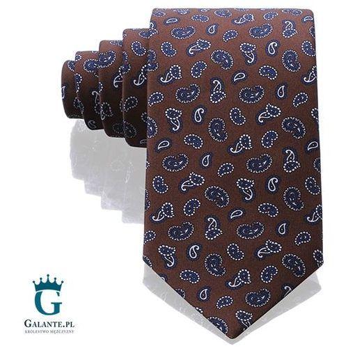 Arcuri Brązowy włoski krawat jedwabny 14848/5