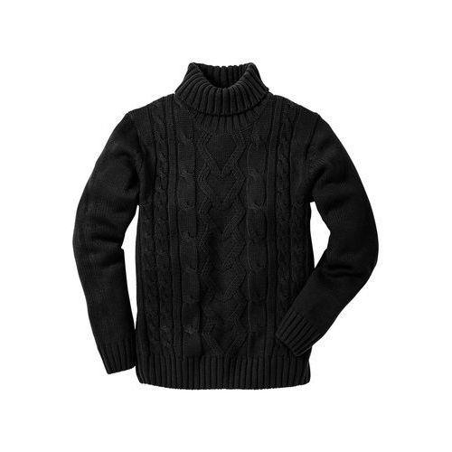 Bonprix Sweter z golfem czarny