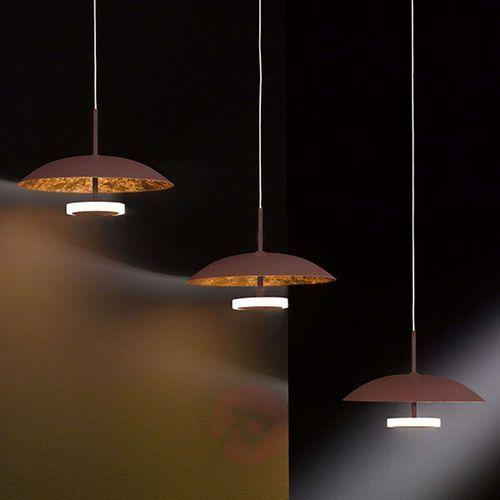 Wofi Pierre - 3-pkt. lampa wisząca led, brązowo-złota (4003474329956)
