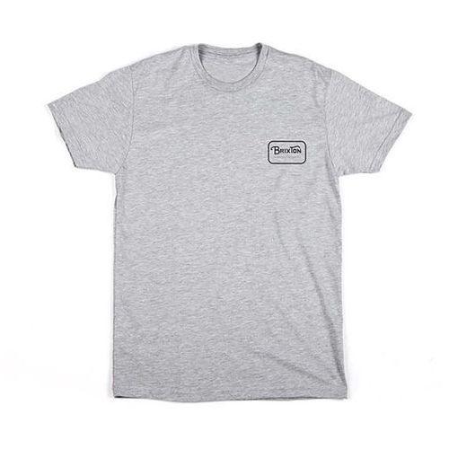 Brixton Koszulka - grade s/s stnd tee heather grey/black (htgbk) rozmiar: m