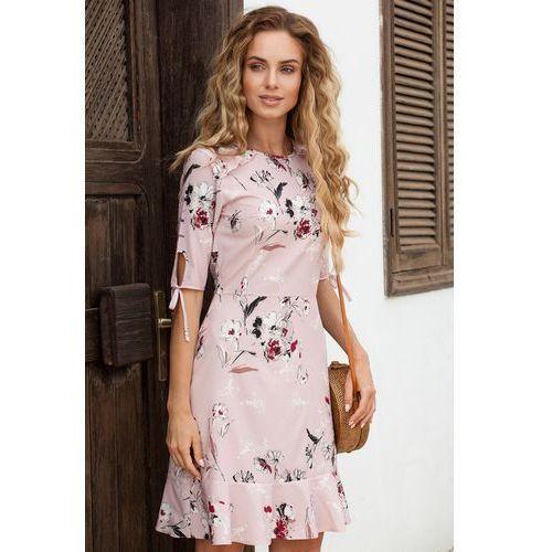 M381 sukienka pudrowa, Moe