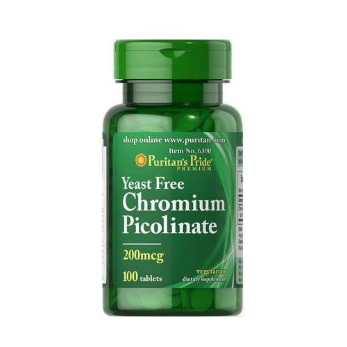 Tabletki Puritan's Pride Chromium Picolinate 200mcg Yeast Free 100 tabl.