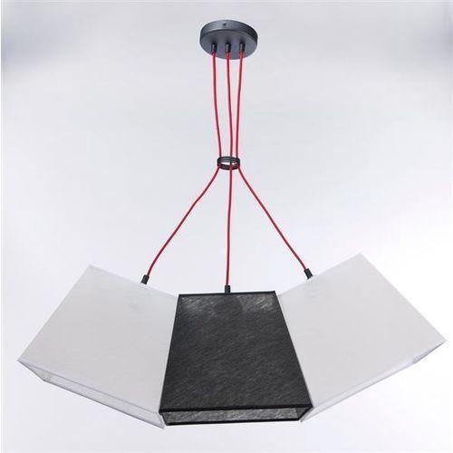 Lampa wisząca werder 3 3228 - czarny transparentny/biały marki Namat