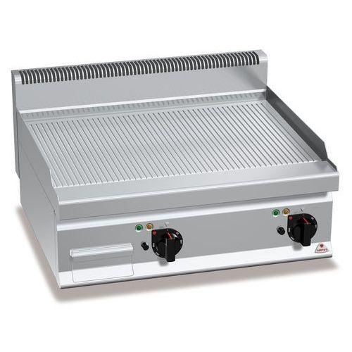 Płyta grillowa, elektryczna, ze stali nierdzewnej, ryflowana, nastawna, 9,6 kW, 800x700x290 mm   BERTO'S, Macros 700, POWERED MULTIPAN, E7FR8BP-2