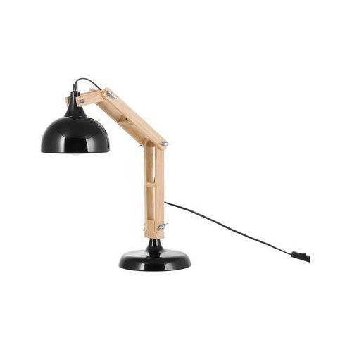 Nowoczesna lampka nocna w kolorze czarnym - lampa stojąca - salado marki Beliani