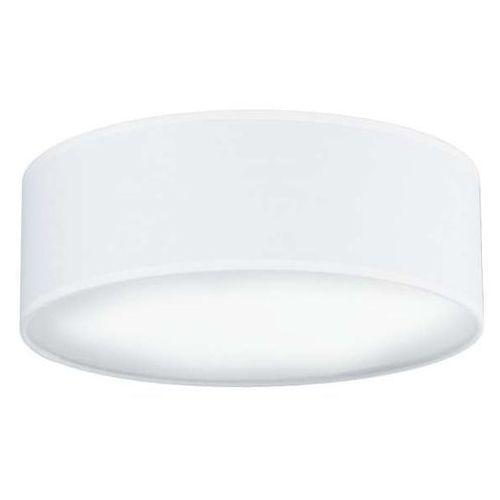 Sotto luce Plafon lampa sufitowa mika elementary m 1/c/white okrągła oprawa abażurowa biała