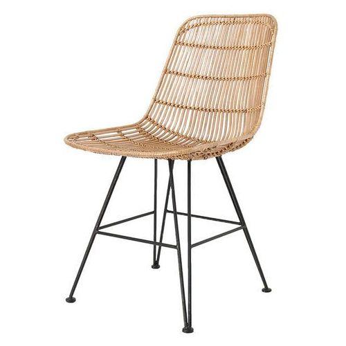 Hk living Krzesło rattanowe naturalne