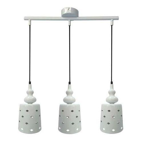 Ażurowa LAMPA wisząca HAMP 33-51943 Candellux zwis OPRAWA z wzorkami listwa sufitowa biała, 33-51943