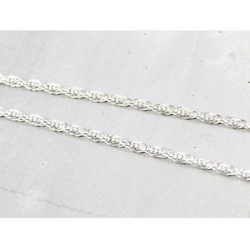 Srebrny (925) łańcuszek ankierka zakręcona 50 CM + OPAKOWANIE