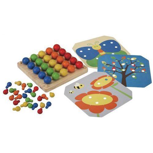 drewniana plansza z obrazkami i kołeczkami marki Plan toys