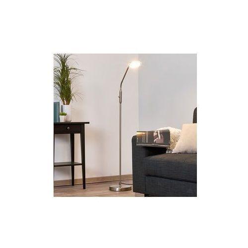 Ściemniana lampa stojąca LED DANNY, nikiel/mat. - produkt z kategorii- Lampy stojące