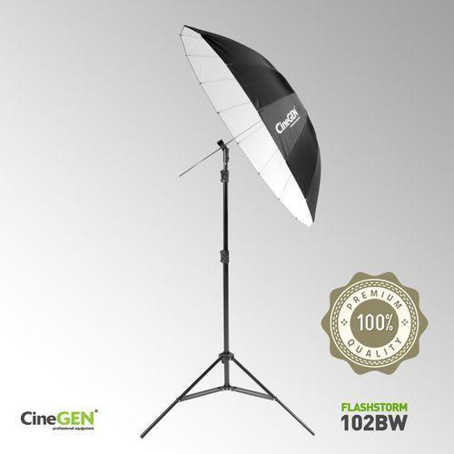 Zestaw oświetleniowy z parasolką białą 105cm