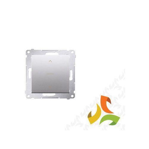 Wyłącznik żaluzjowy trójpozycyjny 1-0-2 srebrny mat DZW1K.01/43 SIMON 54 PREMIUM