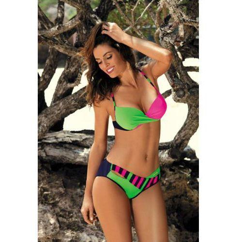 Kostium kąpielowy model tamara blu scuro-blight green-rosa shocking m-399 green/pink, Marko