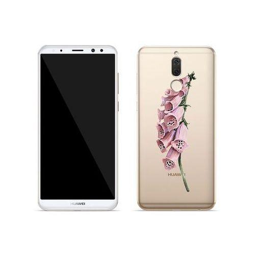 Huawei Mate 10 Lite - etui na telefon Crystal Design - Różowa roślina, kolor różowy