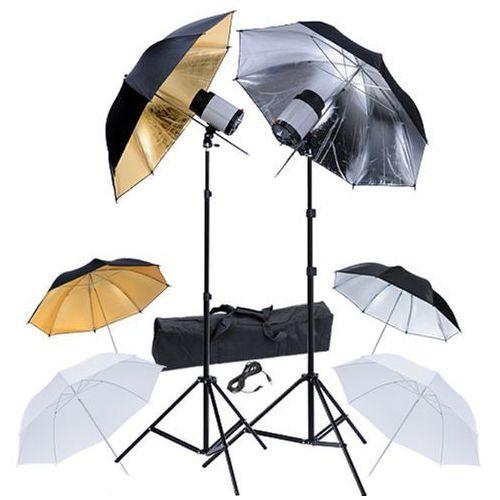zestaw studio: lampa x2, statyw x2 i parasolki x6 marki Vidaxl