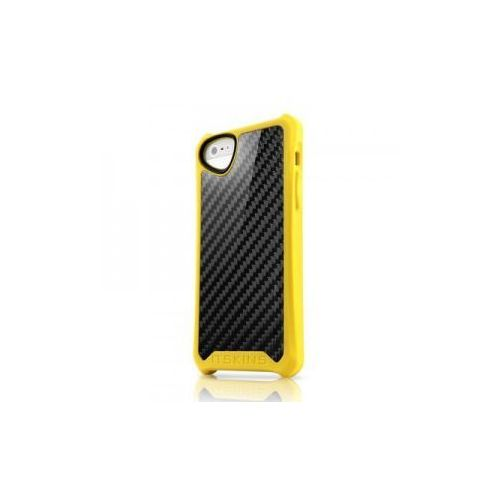 Futerał Atom Sheen Carbon Itskins - APPLE IPHONE 5 żółty