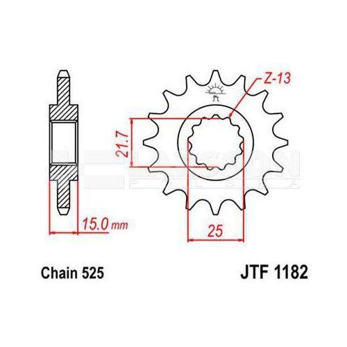 Zębatka przednia jt f1182-15, 15z, rozmiar 525 2201206 triumph speed four 600 marki Jt sprockets