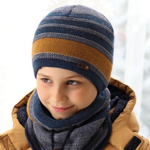 Ciepły komplet zimowy czapka + komin rozmiar 54-58