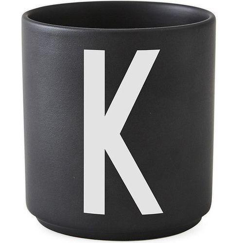 Kubek porcelanowy aj czarny litera k marki Design letters