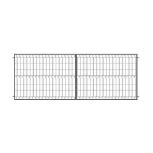 Brama dwuskrzydłowa STARK 400 x 150 cm antracytowa POLBRAM (5900652450336)