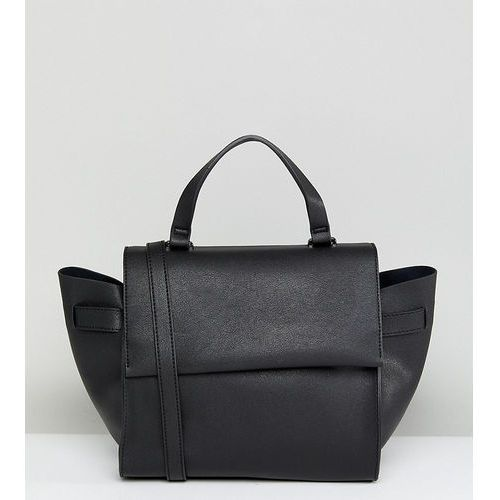 structured tote bag in black with cross body strap - black marki Glamorous