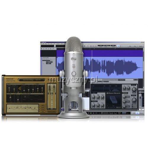 yeti mikrofon pojemnościowy usb, wyjście słuchawkowe + oprogramowanie od producenta Blue microphones