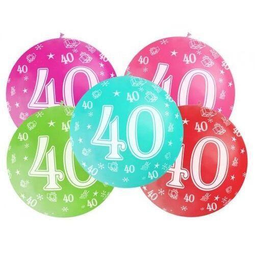 BALON LATEKSOWY 40th BIRTHDAY 100cm 1szt, #A526^n