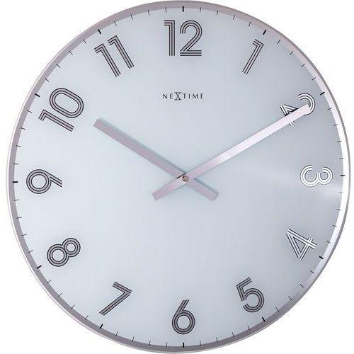 Zegar ścienny Reflect biały Nextime 43 cm (8190 WI), kolor biały