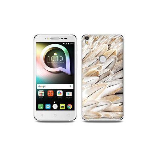 Etuo foto case Alcatel shine lite - etui na telefon foto case - białe pióra